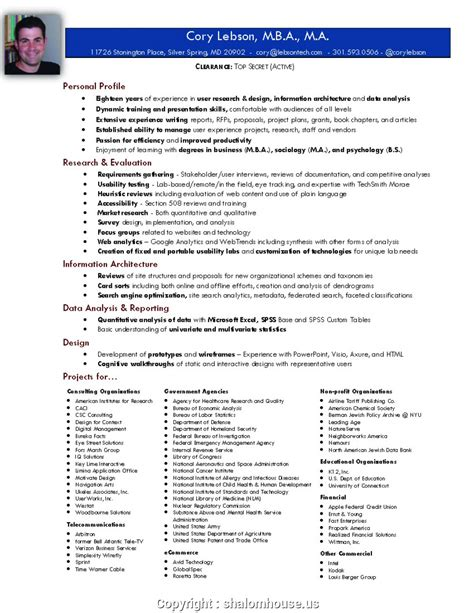 Resume For Position by Unique Resume Sle For Manager Position Resume Exles