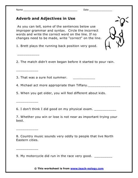 all worksheets 187 adjective adverb worksheets printable