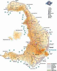 Santorini Map by Motor Inn | Motor Inn: Santorini Rental ...