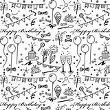 Birthday Paper Printable Coloring Wrapping Happy Doodle Geschenkpapier Stickers Pattern Planner Printables Digital Drawing Google Scrapbook Diy Gift Scrapbooking Ausdruckbares sketch template