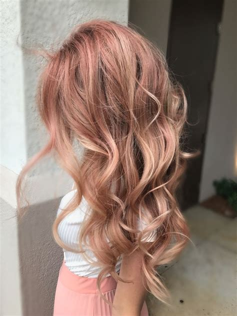 Gold Hair by Gold Hair Blush Tones Pink Hues By