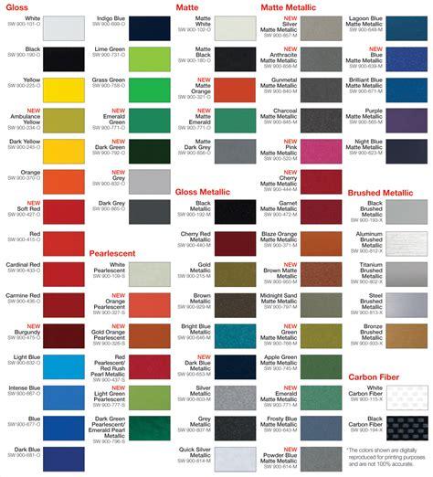 Vinyl Wrap Colors Images