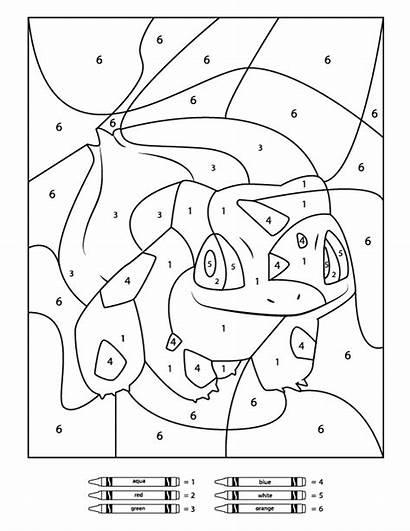 Pokemon Number Printable Worksheets Bulbasaur Numbers Coloring