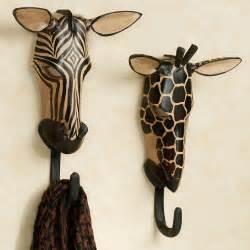 Decorative Kitchen Towel Sets exotic tribe zebra and giraffe wall hook set