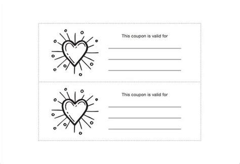 homemade coupon templates  sample