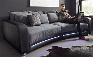 Couch Led : big sofa inklusive rgb led beleuchtung kaufen otto ~ Pilothousefishingboats.com Haus und Dekorationen
