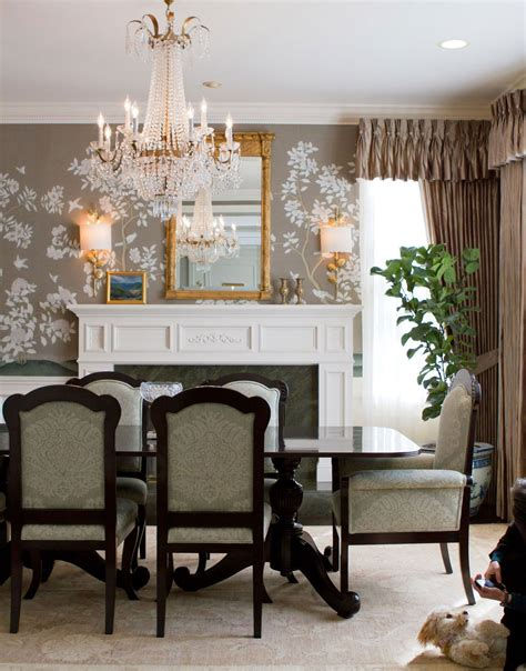 british colonial dining room decor  empire style crystal chandelier chandeliers dining room wallpaper traditional dining rooms beautiful