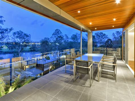 luxury home  brisbane river