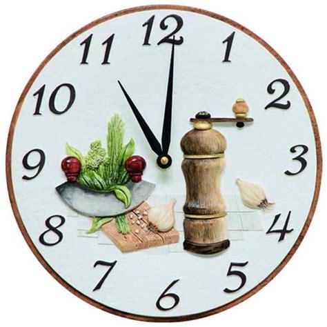 pendules de cuisine originales pendule murale de cuisine decoration cuisine orange