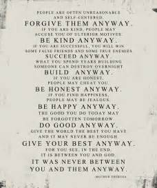 Mother Teresa Quotes Love Them Anyway Amazing Mother Teresa Quotes Love Them Anyway  Quotes Of The Day