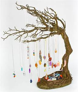 Gemstone Pendants Windswept Tree Display - Squire Boone