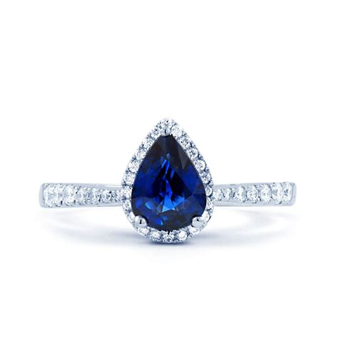 shiva pear sapphire engagement ring boutique