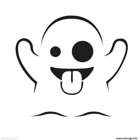 dessin de fantome a imprimer coloriage emoji fantome jecolorie