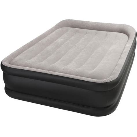 walmart up mattress intex deluxe pillow rest airbed with built in 120v