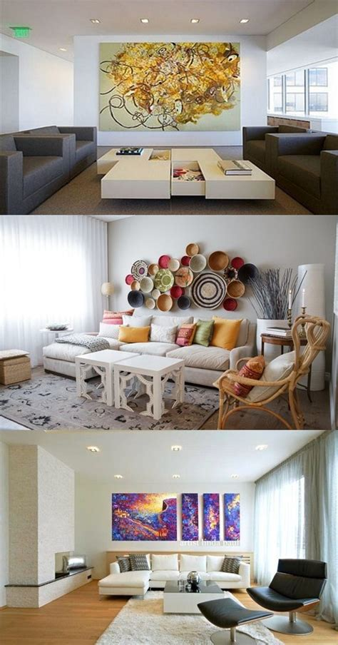 creative ways  decorate  white walled living room
