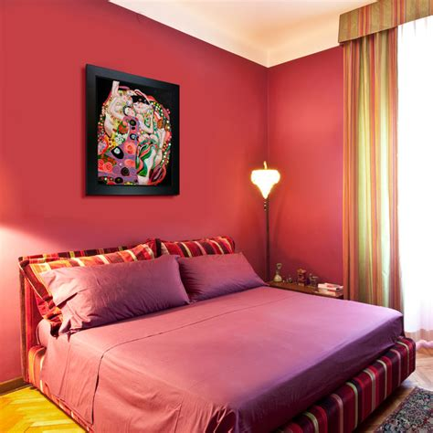 Oil Paintings For Bedrooms  Contemporary Bedroom