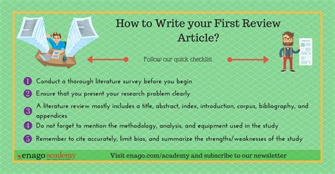 How To Write A Good Scientific Literature Review Enago