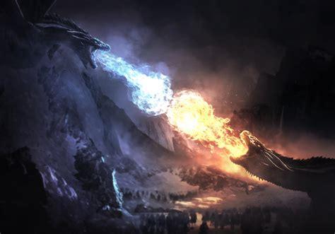 dragons fight game  thrones season