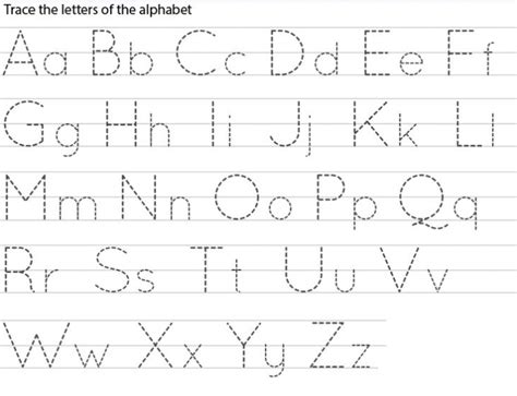 Alphabet Letter Tracing Templates by Printable Tracing Letters Worksheets Template For Toddlers
