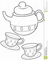 Tea Coloring Cup Drawings 3kb 1043 1300px sketch template