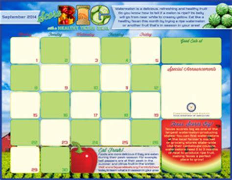 fn menu calendar templates