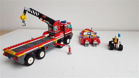 Lego Fire Truck And Boat by Lego City 3180 7213 7206 Tank Truck Off Road
