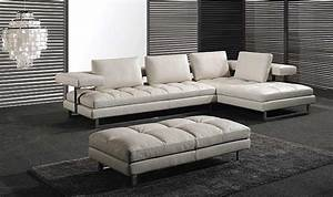 Italian leather sofa PL0071 by Planum | Leather Sectionals