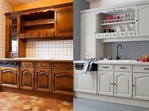 peinture meuble cuisine bois blanc super deco With deco cuisine pour meuble a vendre