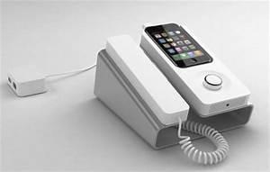 Combiné Téléphone Fixe : desk phone dock transforme votre iphone en t l phone fixe ~ Medecine-chirurgie-esthetiques.com Avis de Voitures