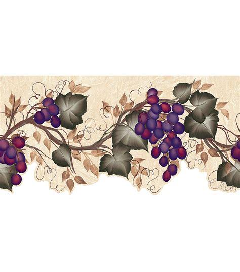 ivy grape vine die cut wallpaper border green joann