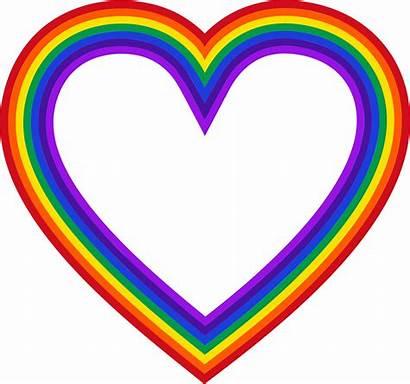 Rainbow Heart Clipart Drawing Svg Mark Ii