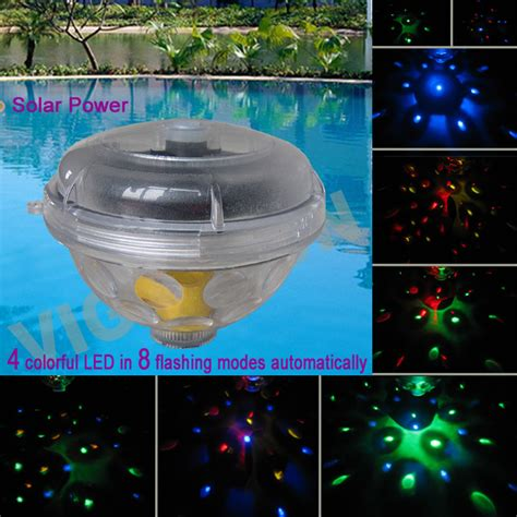 china solar swimming pool blinking floating light vs