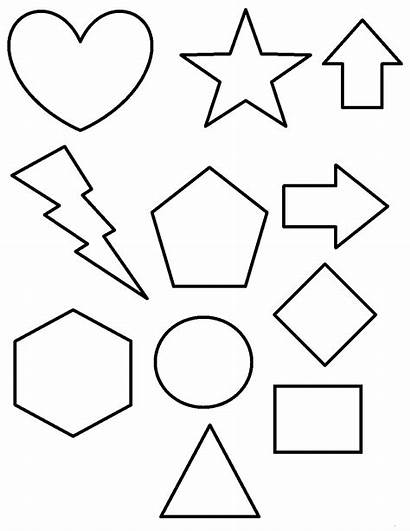 Coloring Shapes Pages Printable