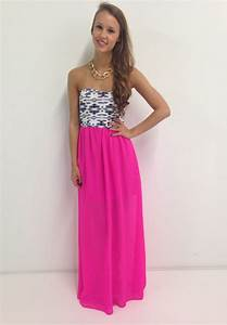 hot pink aztec maxi dress swoonboutique dresses as a With hot pink dress for wedding guest