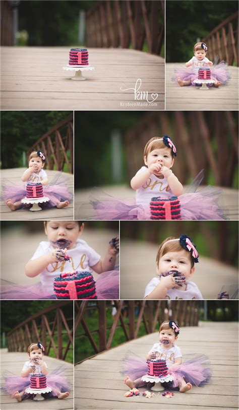 makaylas outdoor cake smash session indy child pictures
