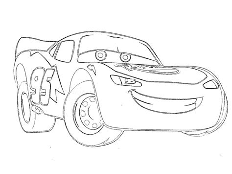Coloring Pages Lightning Mcqueen  Az Coloring Pages