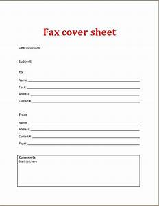 fax cover sheet word excel templates With fax cover sheet excel