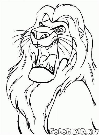 Coloring King Mufasa Simba Girlfriend Nala Lion