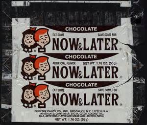 Chocolate Now and Later Candy