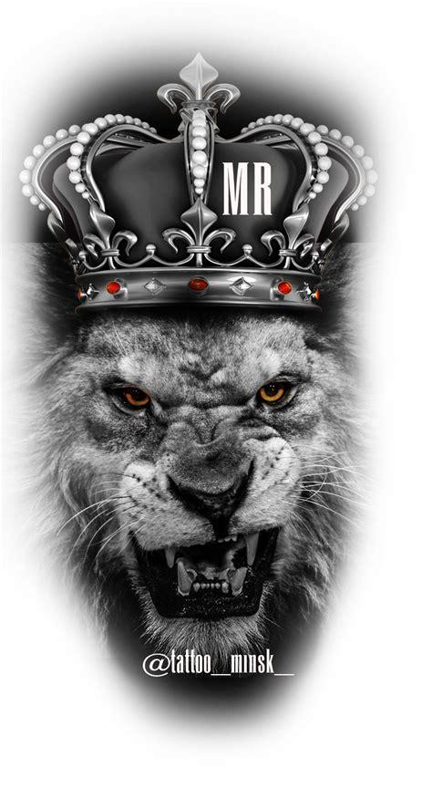 lion crown favorits lion tattoo design tattoos und