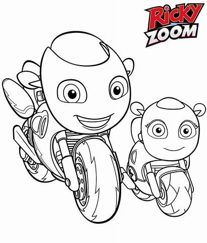 Ricky Zoom Coloring Toot Pages Printable Coloringonly