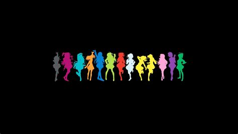 ❤ get the best black anime wallpaper on wallpaperset. THE iDOLM@STER, Anime Girls, Colorful, Pose, Black ...