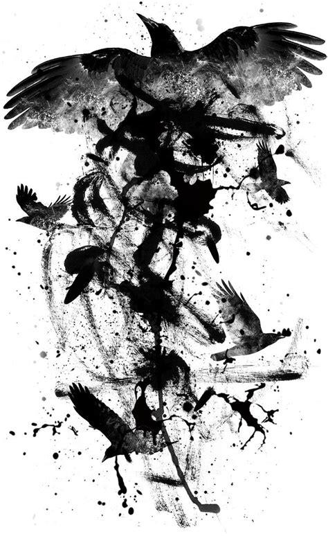 Image result for fierce raven tattoo | Corvo tattoo, Arte