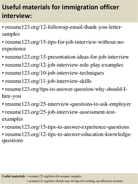 Immigration Officer Resume by Top 8 Immigration Officer Resume Sles