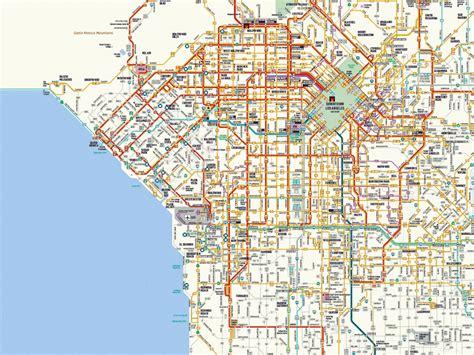 los angeles map travelsfinderscom
