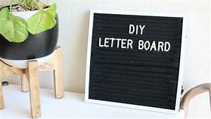 diy felt letter board youtube With how to make a felt letter board