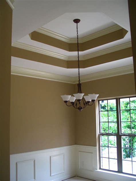 Tray Ceiling Trim Ideas by Tray Ceiling With Crown Moulding Paint