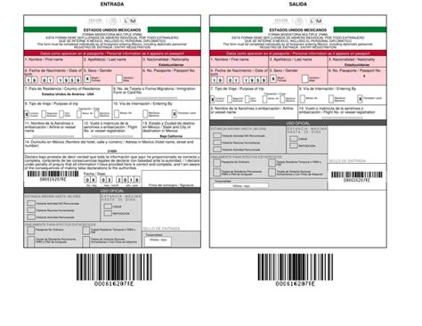 Mexico Tourist Card Online (fmm Form