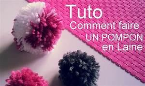 Faire Un Pompon Avec De La Laine : cr ation d i y tuto comment faire un pompon en laine youtube ~ Zukunftsfamilie.com Idées de Décoration