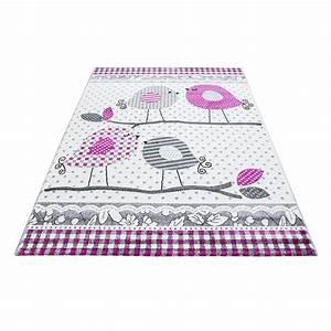 tapis pour chambre bebe fille lila rose et gris With tapis rose pour chambre bebe